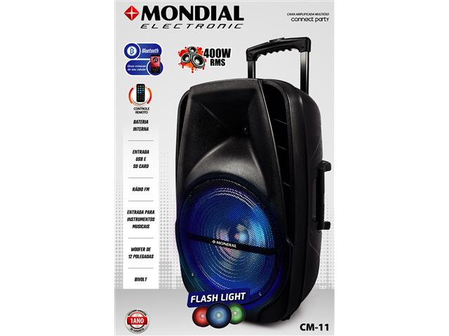 Caixa Amplificadora Multiuso Conect Party Mondial Bivolt - 3