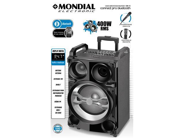 Caixa Amplificadora Multiuso Conect Pro Bluetooth Mondial Bivolt - 2