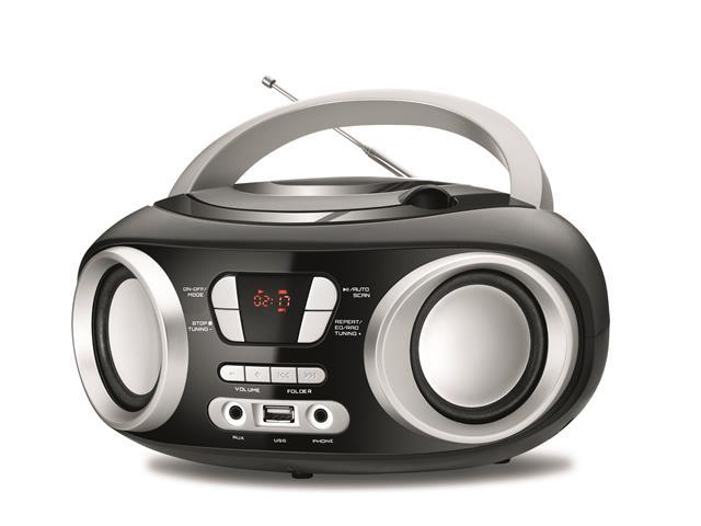 Rádio Boom Box Up Black USB Mondial Preto Bivolt - 2