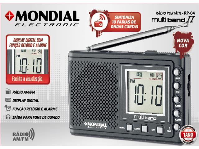 Rádio Portátil Multi Band II Mondial Bivolt - 1