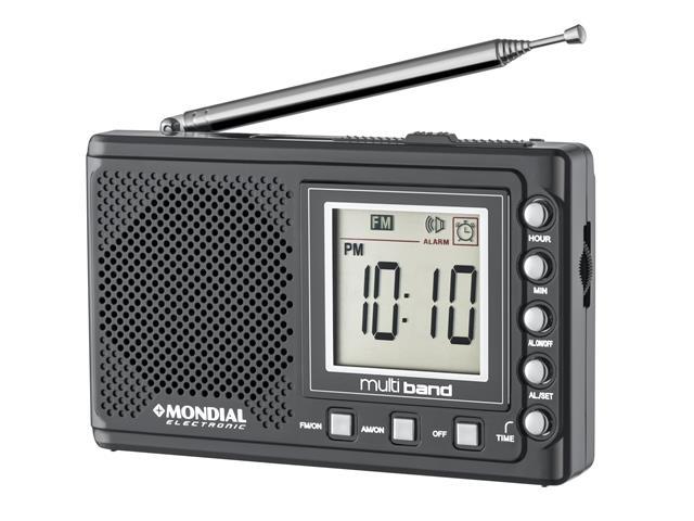 Rádio Portátil Multi Band II Mondial Bivolt