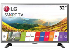 "Smart TV LED 32"" LG HD Conv. TV Digital webOS 4.0 Wi-Fi 3 HDMI 2 USB"