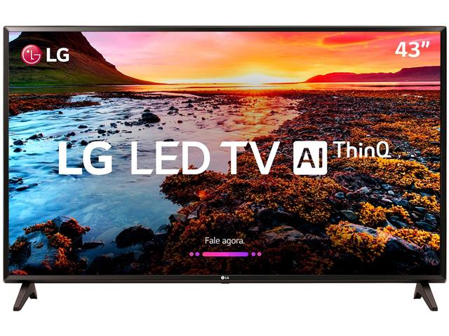 "Smart TV LED 43"" LG Full HD ThinQ AI TV HDR webOS 4.0 Wi-Fi 2HDMI 1USB - 1"