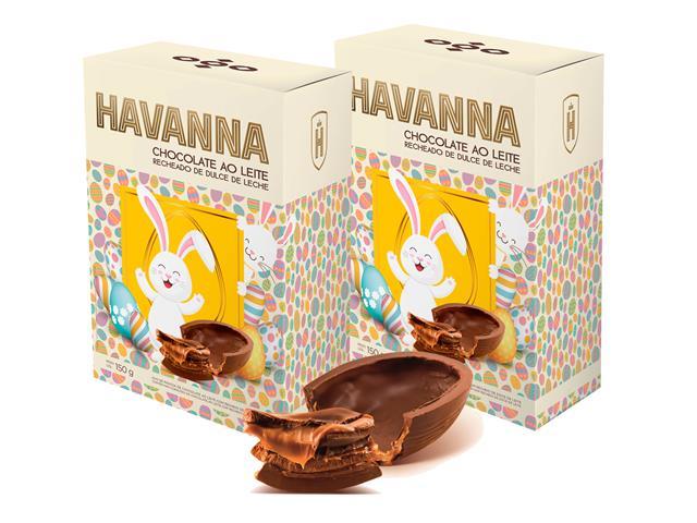 Combo Ovos de Páscoa Havanna Ao Leite Recheio Doce de Leite 150G 2 Un