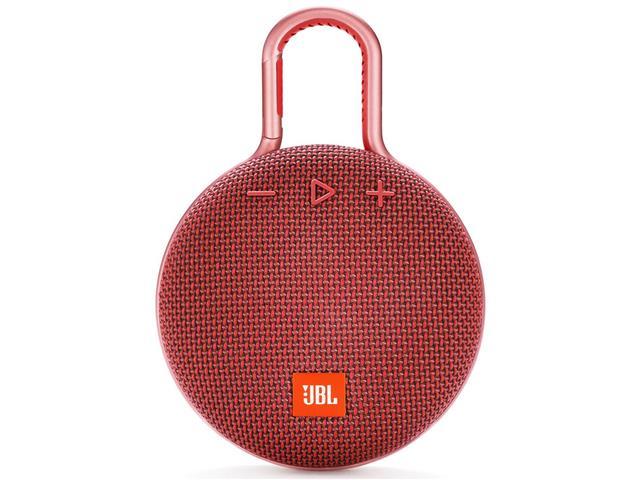 Caixa de Som Bluetooth JBL Clip 3 3,3W Vermelha - 5