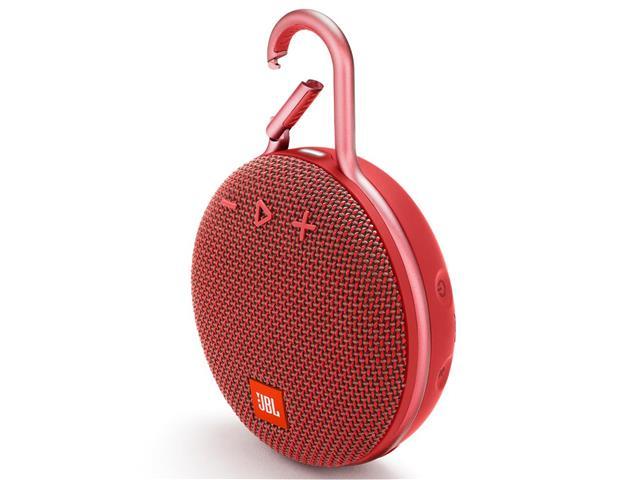 Caixa de Som Bluetooth JBL Clip 3 3,3W Vermelha - 1