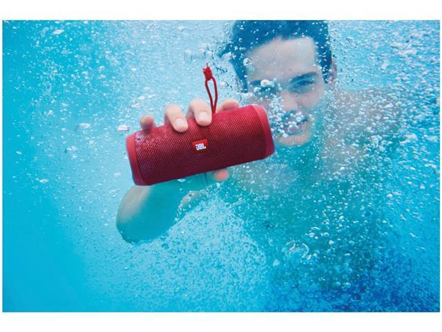 Caixa de Som Bluetooth JBL Flip 4 16W Vermelha - 7