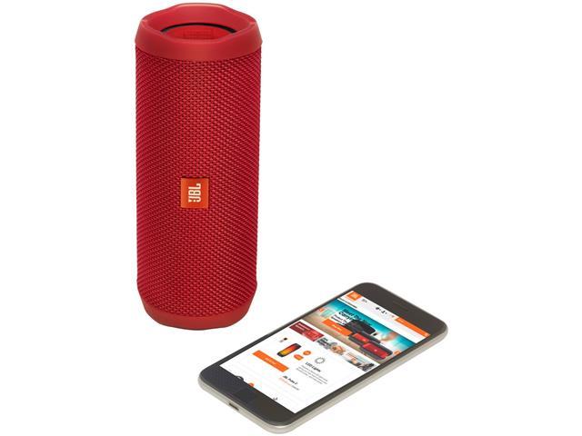 Caixa de Som Bluetooth JBL Flip 4 16W Vermelha - 4