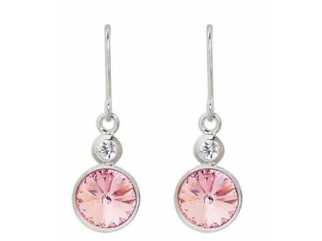 Brincos Brincos DSE decorada com cristais da Swarovski® Rosa