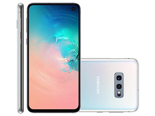"Smartphone Samsung Galaxy S10e 128GB Tela 5.8"" 6GB RAM 12+16MP Branco"