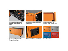 Caixa Ferramentas Tramontina PRO Pickup Box 500x1000x500mm 145 Peças - 2