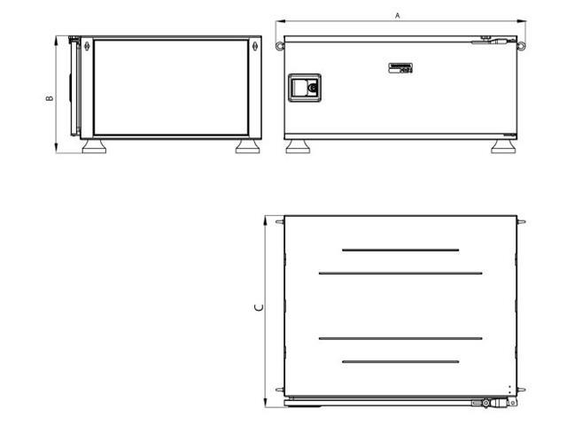 Caixa Ferramentas Tramontina PRO Pickup Box 820x1000x500mm 153 Peças - 5