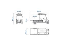 Veículo Utilitário Elétrico Elettro Tramontina 250PL AC 5KW 48V 6,7HP - 4