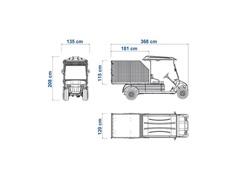 Veículo Utilitário Elétrico Elettro Tramontina 250CE AC 5KW 48V 6,7HP - 5
