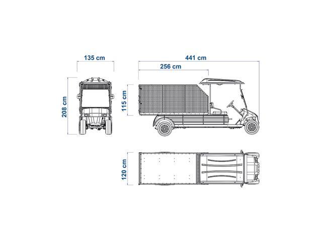 Veículo Utilitário Elétrico Elettro Tramontina 320CE AC 5KW 48V 6,7HP - 4
