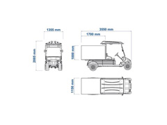 Veículo Utilitário Elétrico Elettro Tramontina 250BA AC 5KW 48V 6,7HP - 5