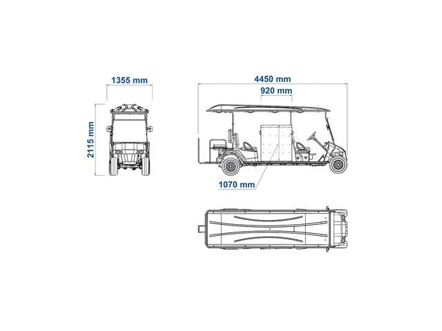 Veículo Utilitário Elétrico Elettro Tramontina 320CD AC 5KW 48V 6,7HP - 5