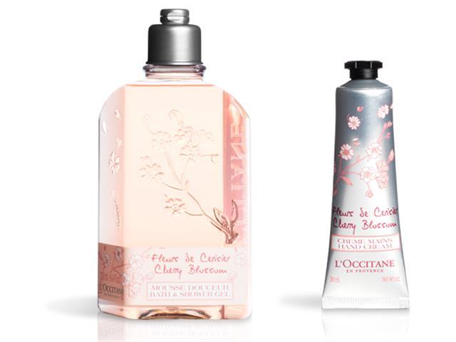 Combo L'Occitane en Provence Sab Líq e Creme de Mãos Flor de Cerejeira