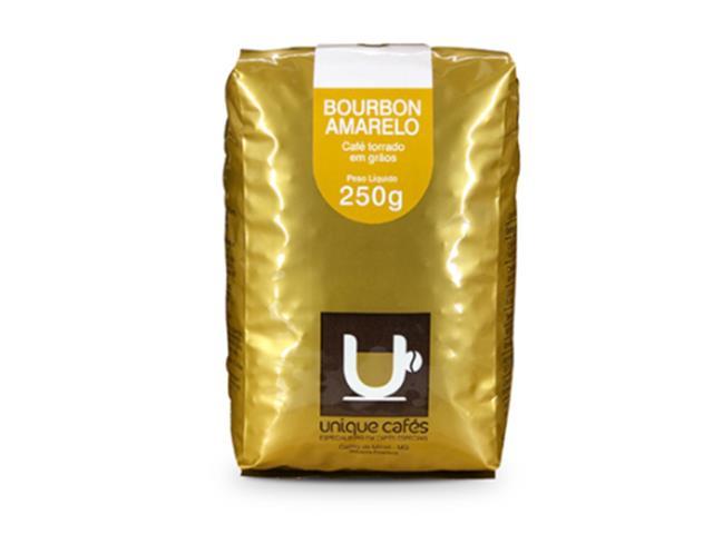Café Unique Bourbon Amarelo em grãos 250g