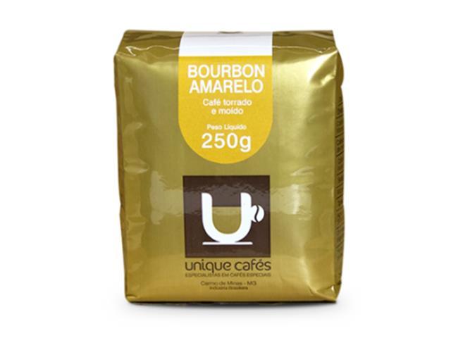 Café Unique Bourbon Amarelo torrado e moído 250g