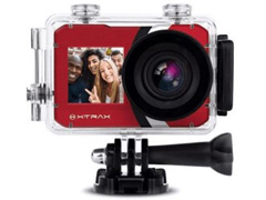 Câmera de Ação Xtrax com Visor Fronta Selfie 4K Vermelha - 0
