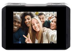 Câmera de Ação Xtrax com Visor Fronta Selfie 4K Vermelha - 2