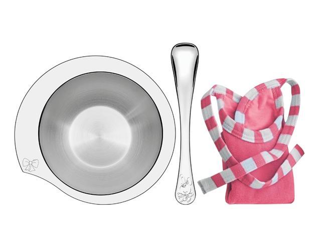 Conjunto Infantil Tramontina Le Petit Rosa 3 Peças