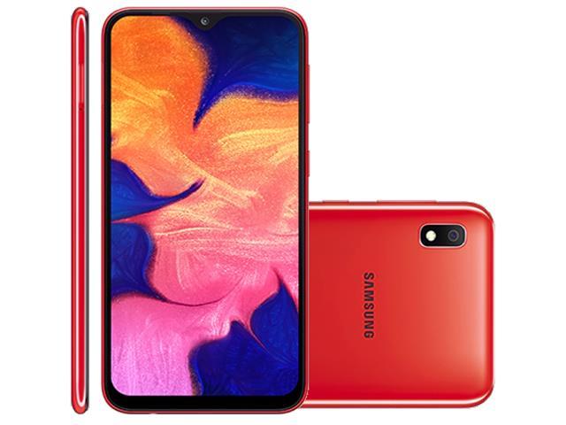 Smartphone Samsung Galaxy A10 32GB Duos 4G Tela 6.213+5MP Vermelho