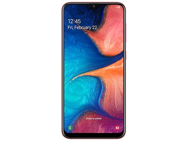 Smartphone Samsung Galaxy A20 32GB Duos 4G Tela 6.413+5MP Vermelho - 1