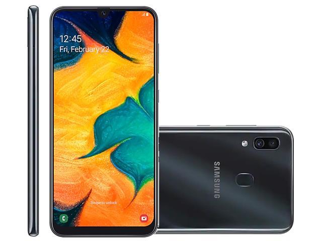 Smartphone Samsung Galaxy A30 64GB Duos 4G Tela 6.4Câm 16+5MP Preto