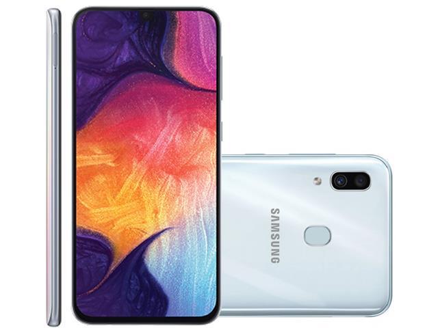 Smartphone Samsung Galaxy A30 64GB Duos 4G Tela 6.4Câm 16+5MP Branco