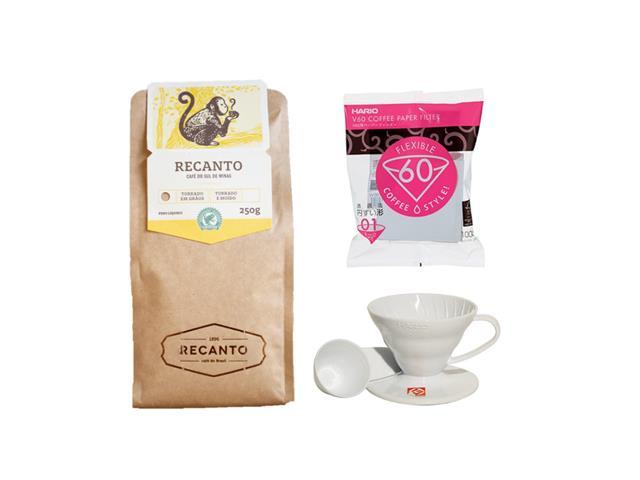 Kit métodos Café Recanto Torrado em Grãos 250g