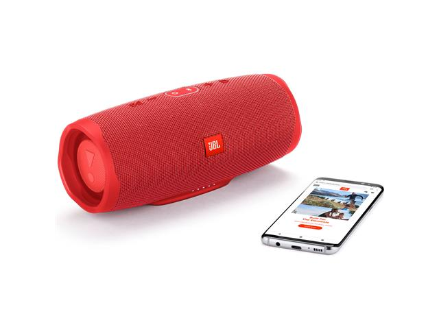 Caixa de Som Bluetooth JBL Charge 4 30W prova d'água Connect+Vermelha  - 5
