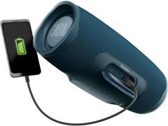 Caixa de Som Bluetooth JBL Charge 4 30W à prova d'água Connect+ Azul - 4