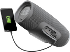 Caixa de Som Bluetooth JBL Charge 4 30W à prova d'água Connect+ Cinza - 4