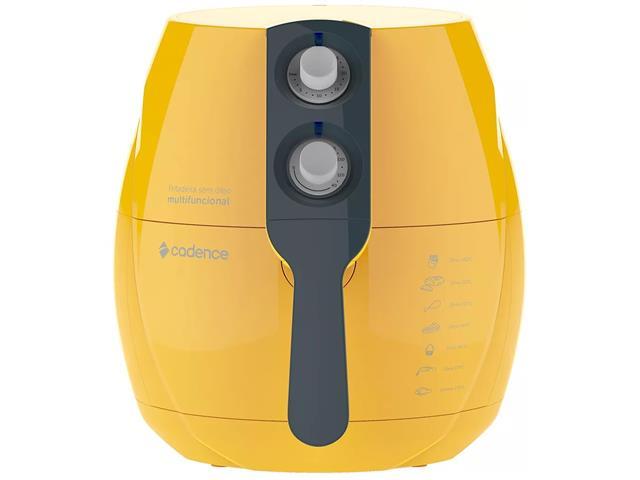 Fritadeira Elétrica sem Óleo Cadence Perfect Fryer Colors Amarela