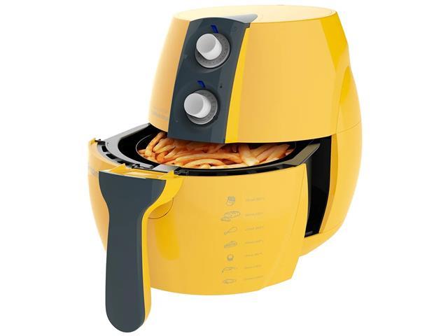 Fritadeira Elétrica sem Óleo Cadence Perfect Fryer Colors Amarela - 5