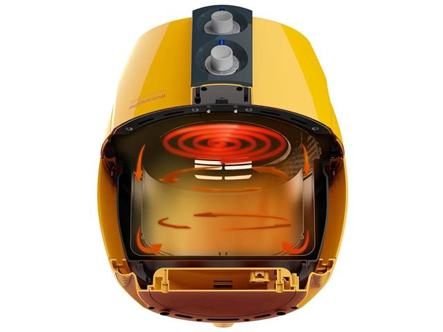 Fritadeira Elétrica sem Óleo Cadence Perfect Fryer Colors Amarela - 6