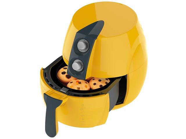 Fritadeira Elétrica sem Óleo Cadence Perfect Fryer Colors Amarela - 4