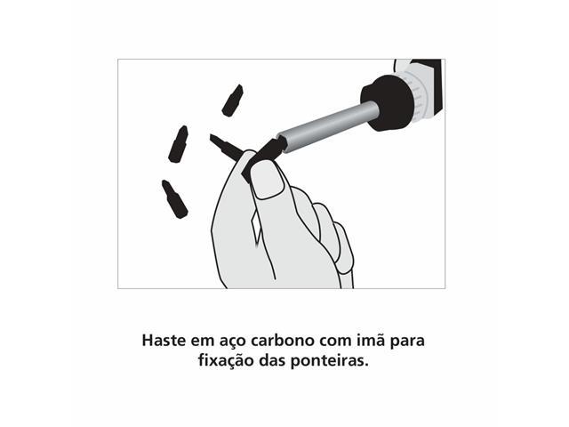 Chave de fenda Tramontina com Ponteiras  - 4