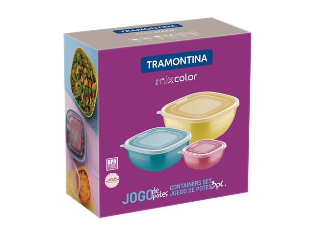 Conjunto de Potes Tramontina Mixcolor 3 Peças - 2