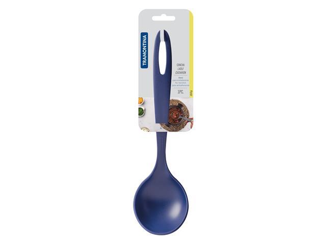 Concha Tramontina Nylon Ability Azul - 1