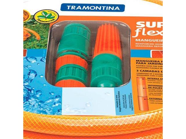 Mangueira com Engate e Esguicho Tramontina Super Flex 10 m - 1