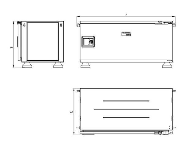 Caixa para Ferramentas Tramontina Pickup Box Azul 50 x 100 x 50 cm - 2