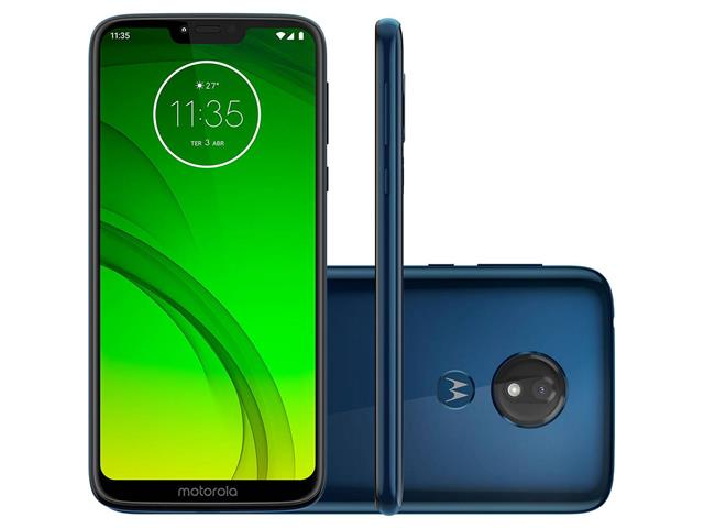 "Smartphone Motorola Moto G7 Power 64GB Duo Tela 6.2""Câm 12MP Azul Navy"