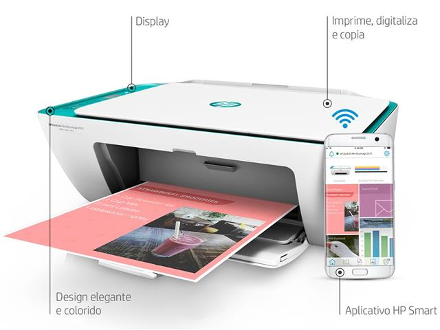 Foto 4 - Impressora Colorida Multifuncional HP Deskjet Ink Advantage 2676