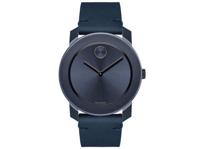 Relógio Movado Masculino Couro Azul - 3600370
