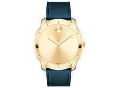 Relógio Movado Masculino Couro Azul - 3600469