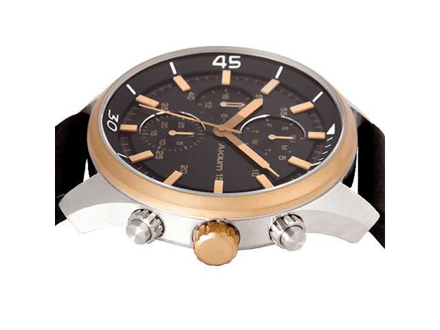 Relógio Akium Masculino Couro Preto - 03D70GL06C - 2