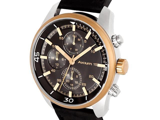 Relógio Akium Masculino Couro Preto - 03D70GL06C - 1